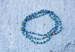 BLUE GLASS BEAD STRAND   $8.