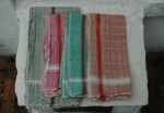 COLOR WINDOWPANE TOWEL   $36.