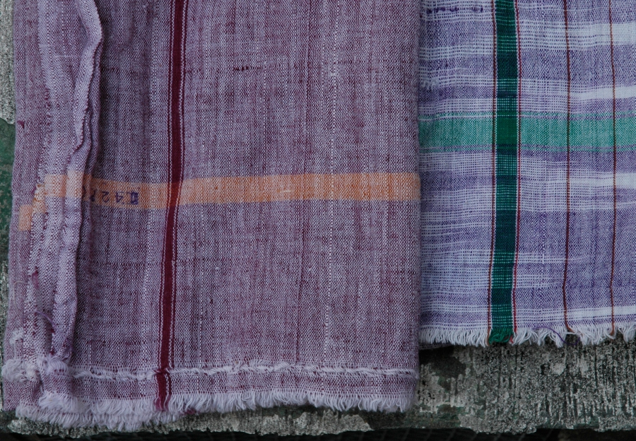 PURPLE RUSTIC TOWELS