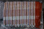SMALL COTTON BLANKET-RUST